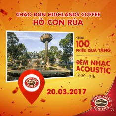 Highlands Coffee Hồ Con Rùa