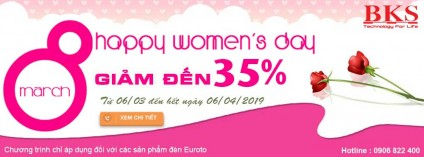 Chương trình khuyến mãi nhân dịp quốc tế phụ nữ 8-3-2019
