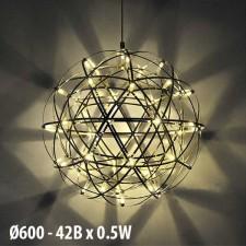 Đèn thả quả cầu inox TE-235 Ø600 3000K