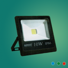 Đèn pha FA LED 10W mới xanh lá/xanh dương/đỏ