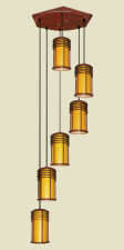 Đèn thả da dê TG-513/6