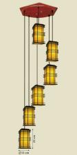 Đèn thả da dê TG-527/6