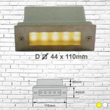 Đèn âm tường led 2W D44