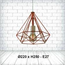 Đèn thả bàn ăn kim cương TE-131