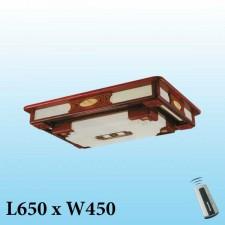 Đèn mâm trần gỗ MG-001 LED 3 màu
