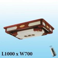 Đèn mâm trần gỗ MG-002 LED 3 màu