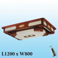 Đèn mâm trần gỗ MG-003 LED 3 màu