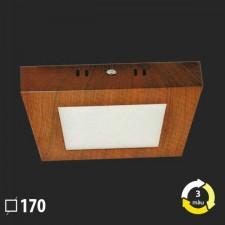 Đèn ốp trần nổi vân gỗ vuông 170x170 MSS-614 SMD 12W