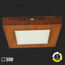 Đèn ốp trần nổi vân gỗ vuông 300x300 MSS-616 SMD 24W