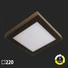 Đèn ốp trần vuông nổi 220x220 MSS-625 SMD 18W